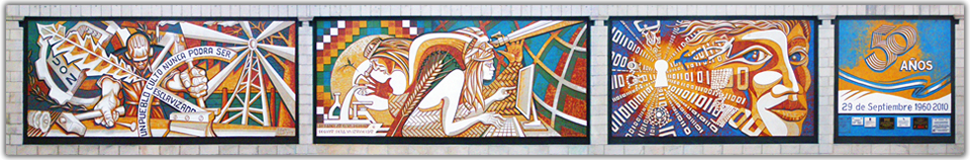 Imagen de Portada. Mural de los 50 años de la UTN Resistencia